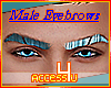 ! Metal Blue Male Brows