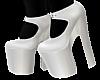 B! White Heels Black S