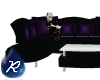 {R} Black n Purple Sofa