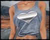 Silver Heart Top