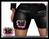 ALA Blk Leather Shorts