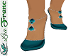 [L] SHOES TEAL
