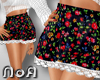 *NoA*Skirt Flower Black1
