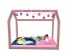 sleeping baby girl bed