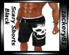 Scary Shorts Black New