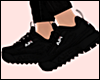 E* Black Sport Shoes