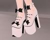 Bow High Heels - White