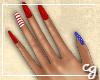 cg. Patriotic Nails
