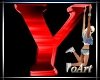 Letter Y red With Pose