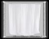 Corner white curtain