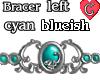 Bracer1 CyanBlueish LEFT