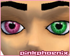 Pink/StrikingGreen Eyes