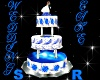 Blue/White Wedding Cake