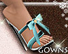 Heels - blue bow