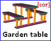 [cor] Garden table
