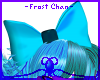 -Frost- Duel Teal bow