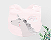 Kids Pink Unicorn Bib