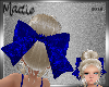 Huge Blue Velvet Bow KID