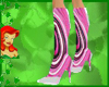 peacock pink boots