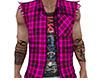 Pink Sleeveless Jacket M