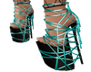 Teal Strapped Platforms