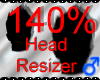 *M* Head Resizer 140%