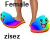 !Rainbow Poop Slippers F