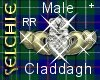 [S] Claddagh Ring Male