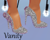 Silver Roses Pumps