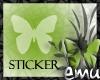 [E] Butterfly Sticker