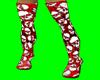 [AR]Thigh Boots Skulls