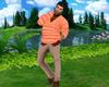 Orange Sweater w/Khakis