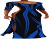 Blue Tapered Drape Dress