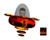 Fire space ship(anim)