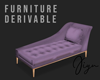 Chaise Lounge Purple
