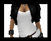 [A.P] White Shirt Black