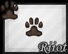 !R; Paw Sticker Brown