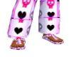 Pink punk slides