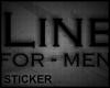 MensLine support sticker