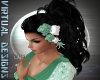 ROSE HAIR FLOWERS GREEN