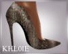 K snake skin heels