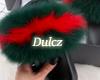 ❤Fur Slides Red&Green