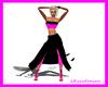 LXF Pink/black dress/leg