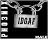 !PX IDGAF LOCK NECKLACE