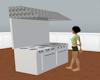 restaurant kitchen stove