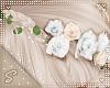 !S Hair Flower White