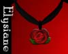 {E} English Rose Choker