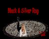*KR-Silver & Black Rug