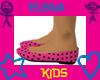 !Kids Pink Pokey Flats