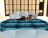 SILVER N BLUE BED
